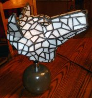 Princess Mononoke Hime Wolf Stained Glass Lamp 3 by mclanesmemories