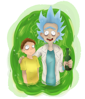 Just me and You, Morty..! by ladyevel