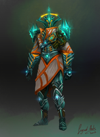 Guthix-style combat robes by RS-LegendArts