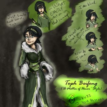 Toph - 'Matter of Honor' by luna-wannabe