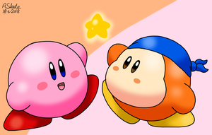 Kirby Waddle Dee Friendship by Alex13Art