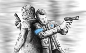 Connor and Hank by Celleno