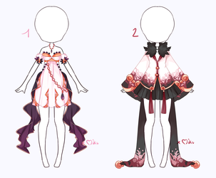 {Open 1/2} Auction Outfit 317 - 318 by xMikuChuu