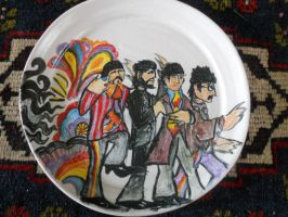 The Beatles plate by Nazgul666
