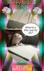 Happy World Rat Day from Bart and Snoopy Rat! by Eternatease
