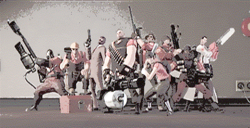 Team Fortress 2 in ANSI format by ED-127