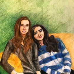 Sisters Portrait Commission by NeverStop13