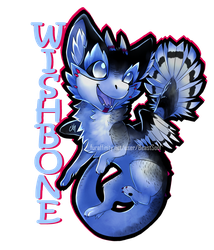 [COM] Wishbone Chibi Badge by BeastySoul