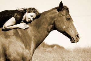 A Girl and Her Horse by KCostaPhotography