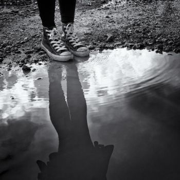 Reflection Without a Face by Zemni