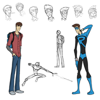 'Sidekick' - Kyle and 'Ricochet' Character Sheet by captainslam