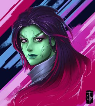 Guardians Of The Galaxy Gamora by thegameworld