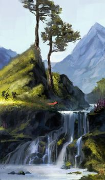 Two-Pines Falls by AnDary