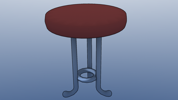 chair in almost toon shading by Swivel-Zimber