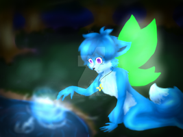 Zoe and the mysterious Light.:Fairy Foxes:. by Feline-girl-2000