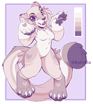 (Open) Anthro Purple Big Cat Adopt by AcrylliaV