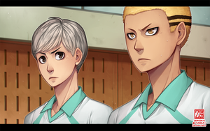 Haikyuu!! [sr] - Kyoutani and Yahaba by zero0810