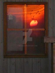 Sunset Reflection in Window by balibob