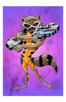 ROCKET RACOON by drawhard
