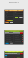 Modal web UI SignUp LogIn_Out by cyrixDesign