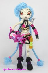 JINX from League of Legends Crochet Amigurumi Doll by Npantz22