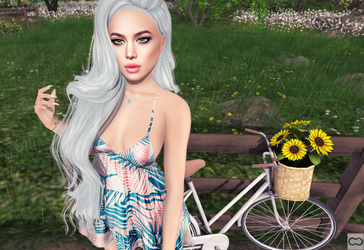 SL: In The Morning On A White Bicycle by CryssieCarver