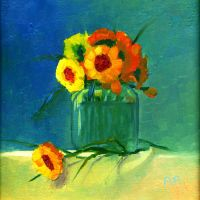 Still life with yellow flowers by morda-creap
