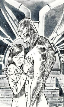 The Shape of Water Fanart by SERGIOTARQUINI