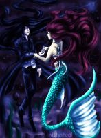 The Vampire and the Mermaid by mistysteel