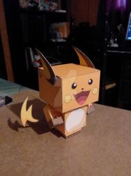 #026 Raichu CubeeCraft by SuperVegeta71290