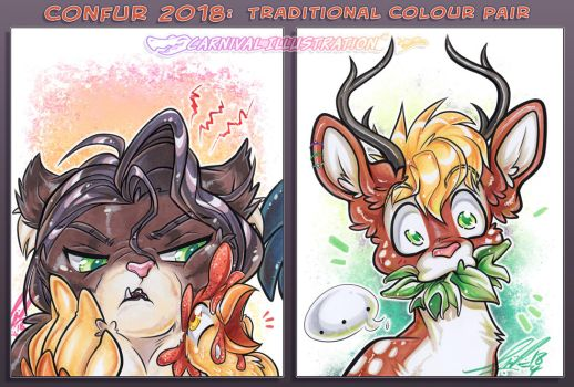 COM: Confur 2018 Traditional Col Pair! by carnival