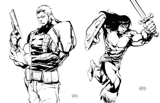 Conan/Cable by johnnymorbius
