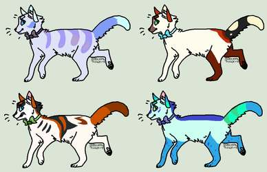 ADOPTS (4/4 OPEN) by SamPanther