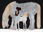 Centaur and her Mother from my dream by bwusagi