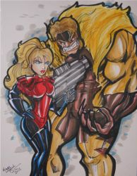 Sabretooth and Birdy Tampa Comic Con 2012 by CreedsGalBirdy