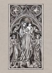 Ivory Gothic Virgin and Child by Theophilia