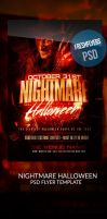 Costume Halloween PSD Party Flyer Template by ImperialFlyers