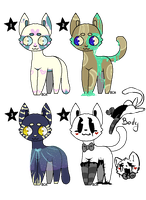 Kitties adoptables [2/4 OPEN Prices lowered] by Lilkiwishop