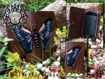 Leather Butterfly iPhone/iTouch Case. by Khalmora-Creations