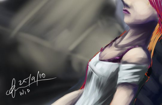 wip. the girl by kuoke