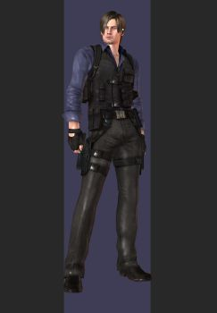 XPS - RE6 - Leon S. Kennedy China Outfit by henryque999