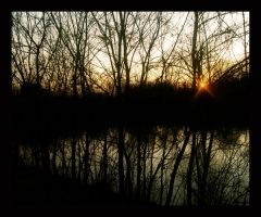 Sunset Over River II by SEnigmaticX