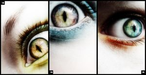 Eye experiments x 3 by SquareFrogDesigns