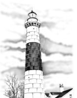 Big Point Sable Lighthouse by B-Richards