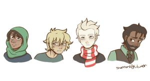 Magnus Chase and the Gods of Asgard characters! by ShannonNyx