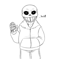 Sans says hello by Umbreeunix