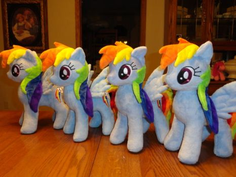 ponies X4 by WhiteDove-Creations