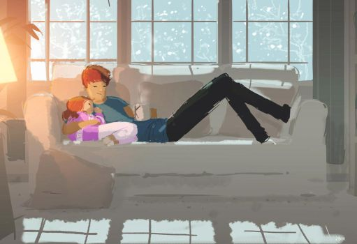 Wintery afternoon. by PascalCampion