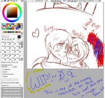 :WIP: Sharing scarfssssss by Chilidogs7442