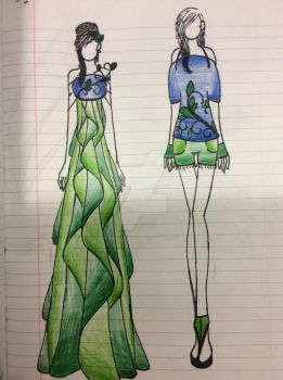 Vines- Champagne Dress and Casual *REDRAW* by ematati97008